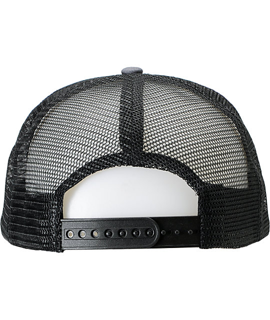 Enjoi It Fits Charcoal Trucker Hat