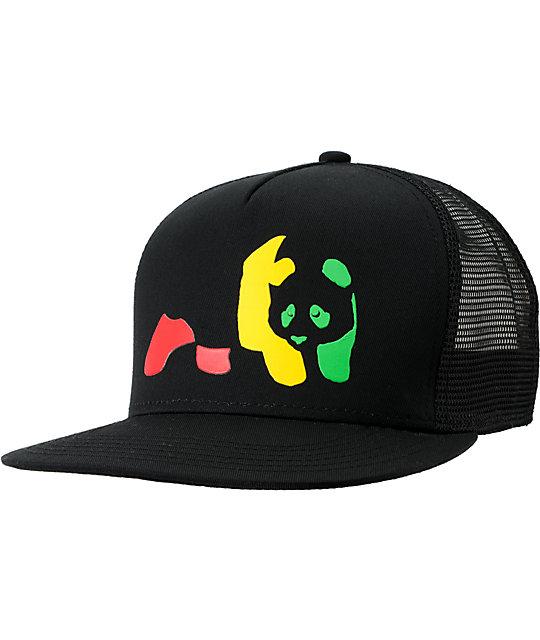 Enjoi Jamaica Me Crazy Rasta Snapback Trucker Hat