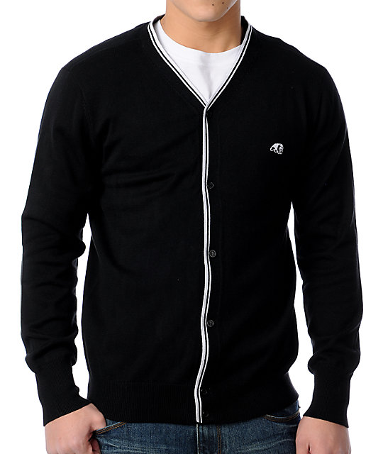 Enjoi Lovefool Black Cardigan Sweater