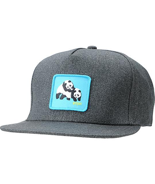 Enjoi Not Dump Truck Grey & Black Snapback Hat