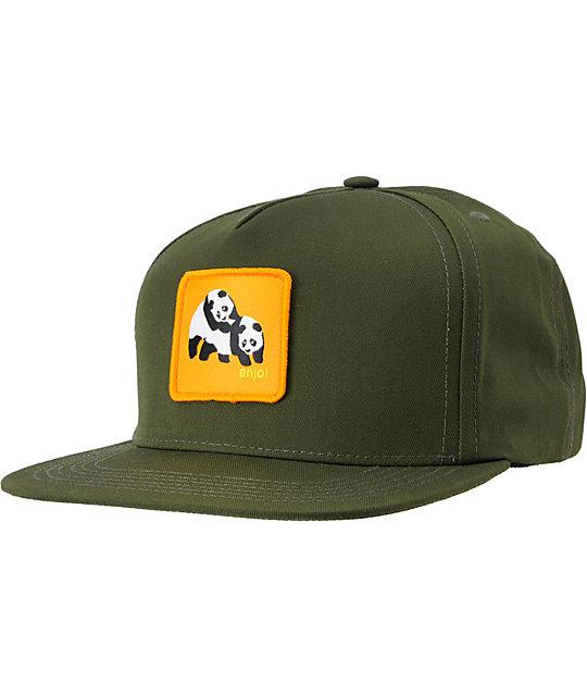 Enjoi Not Hump Army Green Snapback Hat