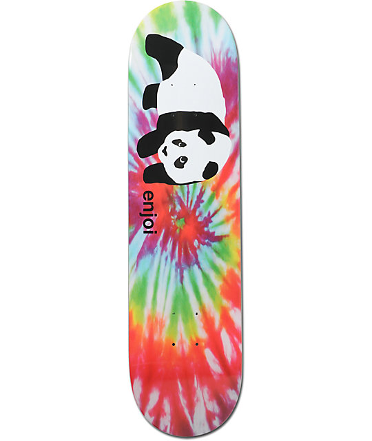 Enjoi Og Panda Tie Dye 8 0 Quot Skateboard Deck At Zumiez Pdp