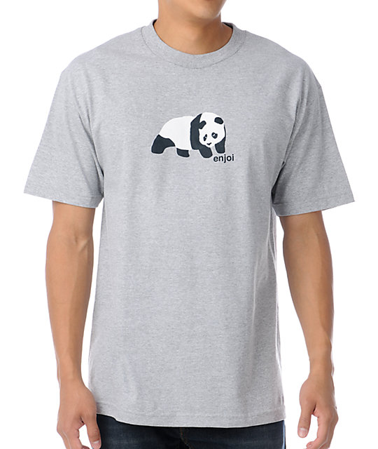 Enjoi Original Panda Heather Grey T-Shirt