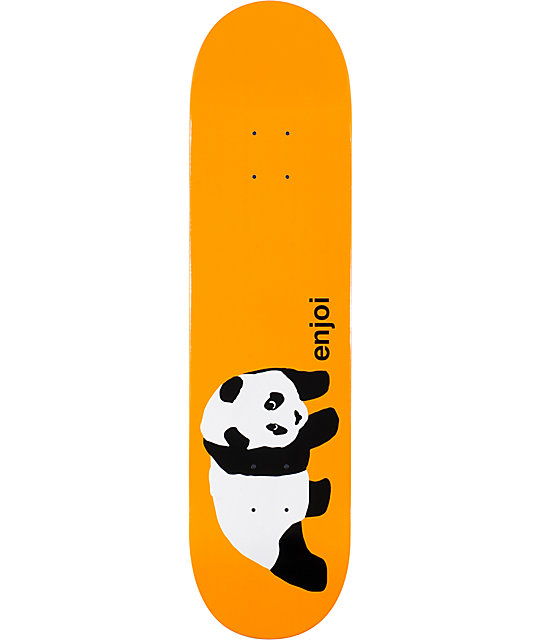 "Enjoi Original Panda Orange 8.0""  Skateboard Deck"