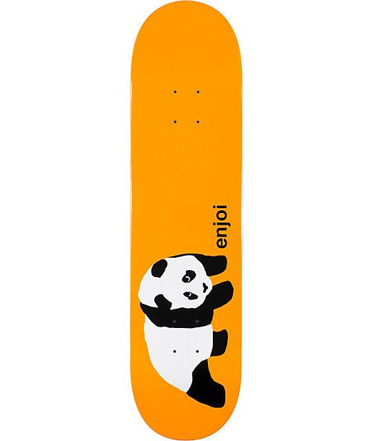 "Enjoi Original Panda Orange 8.0""  Skateboard Deck"