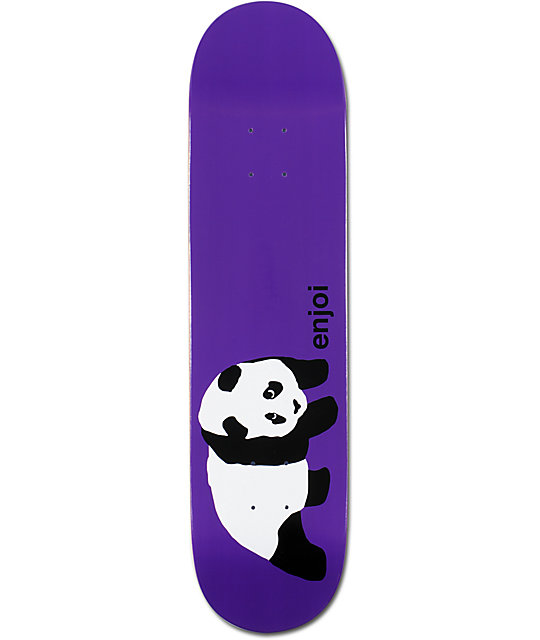 "Enjoi Original Panda Purple 7.75""  Skateboard Deck"