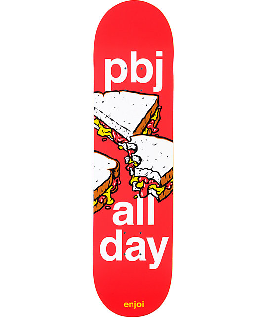 "Enjoi PBJ All Day 8.0""  Skateboard Deck"