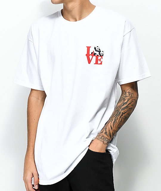 Enjoi Panda Love White T-Shirt