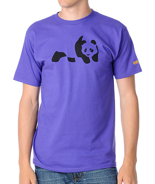 Enjoi Panda Purple T-Shirt