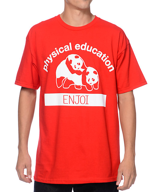Enjoi Physical Education Red T-Shirt
