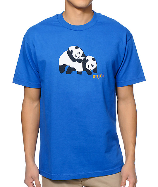 Enjoi Piggyback Pandas Royal Blue T-Shirt