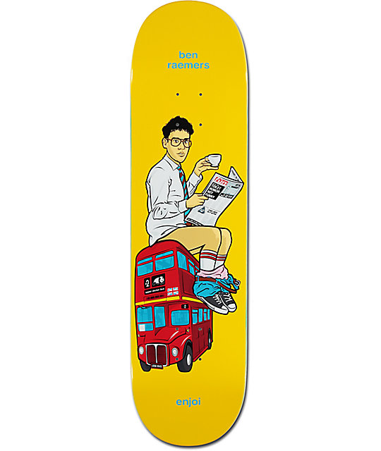 "Enjoi Raemers Upper Decker Bus 8.25"" Skateboard Deck"