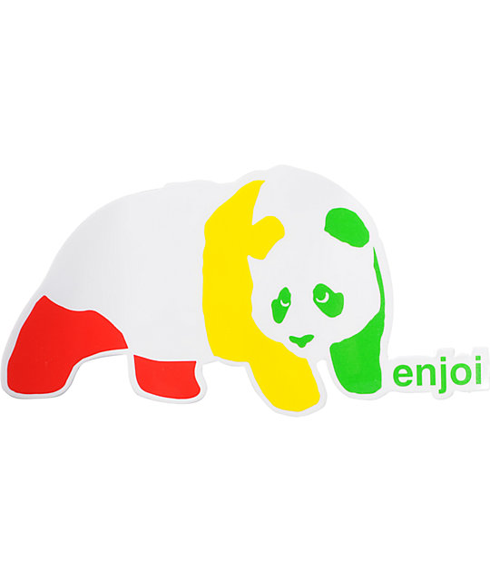 Enjoi Rasta Panda 4 Sticker