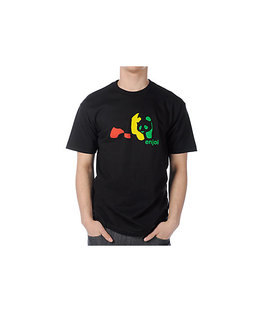 Enjoi Rasta Panda Black T-Shirt