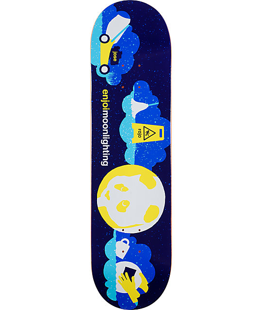 "Enjoi Rojo Moonlighting 8.1""  EOS Skateboard Deck"