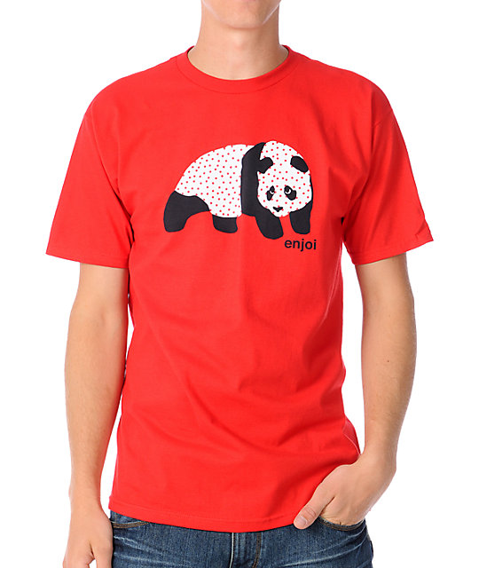 Enjoi Sick Panda Red T-Shirt