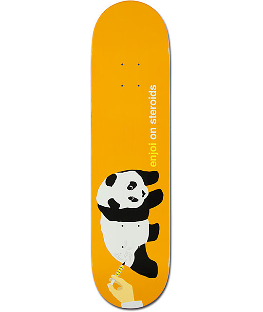 "Enjoi Steroids Orange Panda 8.0""  Skateboard Deck"
