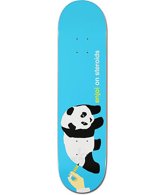 "Enjoi Steroids Turquoise Panda 7.75""  Skateboard Deck"