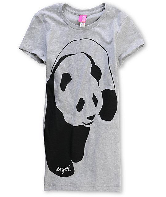 Enjoi Streetwear Panda Heather Grey T-Shirt
