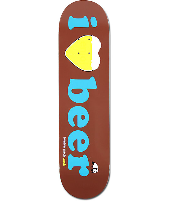 "Enjoi Wallin I Heart Beer 8.0""  Skateboard Deck"