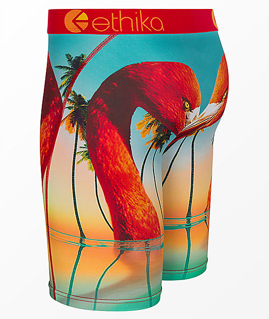 Ethika Flamingo Island Blue & Red Boxer Briefs