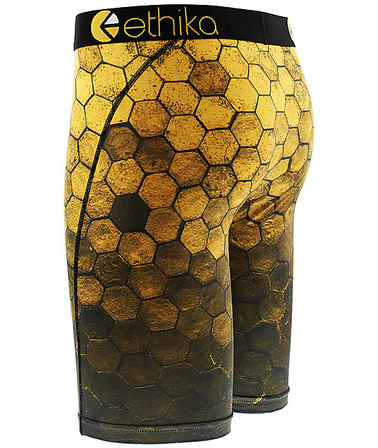 Ethika Hexagon Yellow & Black Boxer Briefs