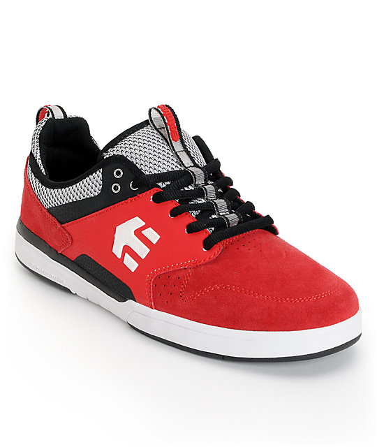 Etnies Aventa Red & Black Suede Skate Shoes