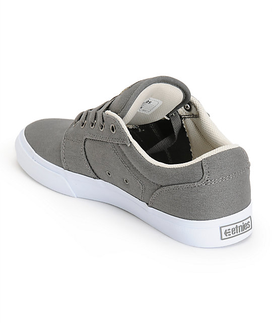 Etnies Barge LS Grey & White Skate Shoes