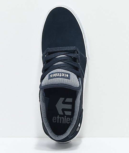 Etnies Barge LS Navy, Grey & White Skate Shoes