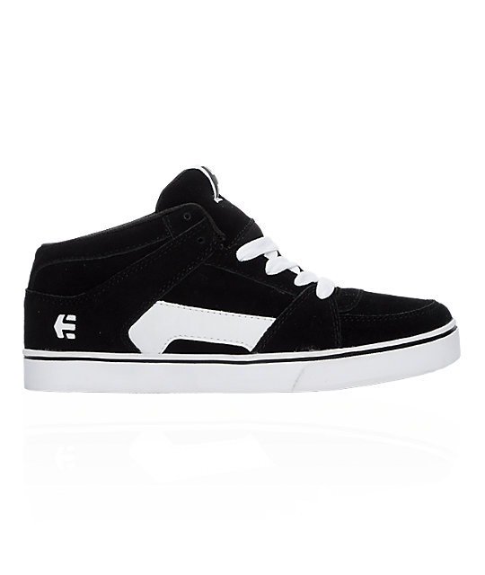 Etnies Boys RVM Black & White Shoes