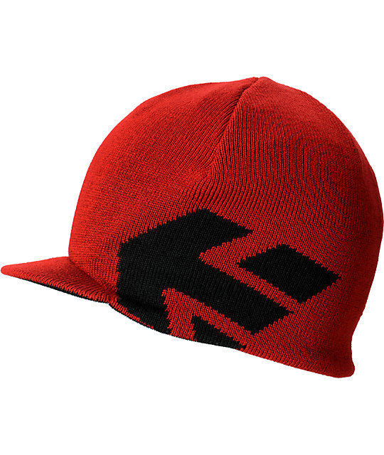 Etnies Breadwinner Reversible Black & Red Visor Beanie