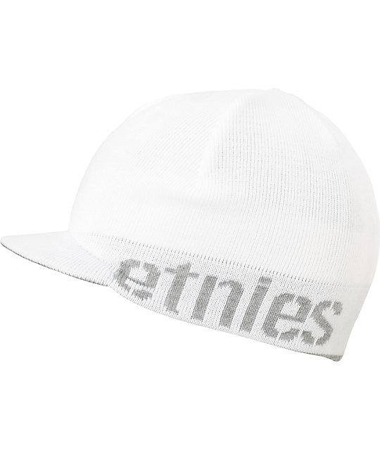 Etnies Breadwinner Reversible White & Grey Visor Beanie
