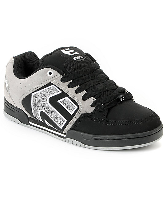 Etnies Charter Black, Grey & White Shoes