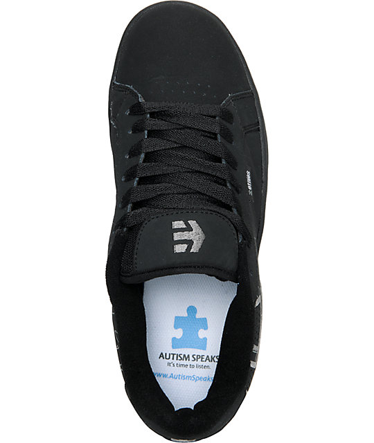 Etnies Fader Autism Speaks Black & Grey Skate Shoes