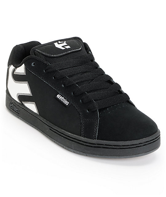 Etnies Fader Black, White, & Gum Skate Shoes
