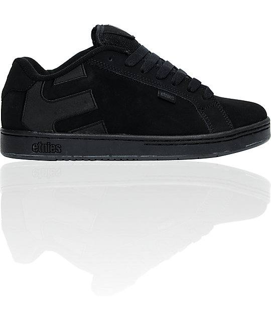 Etnies Fader Black & Black Dirty Wash Skate Shoes