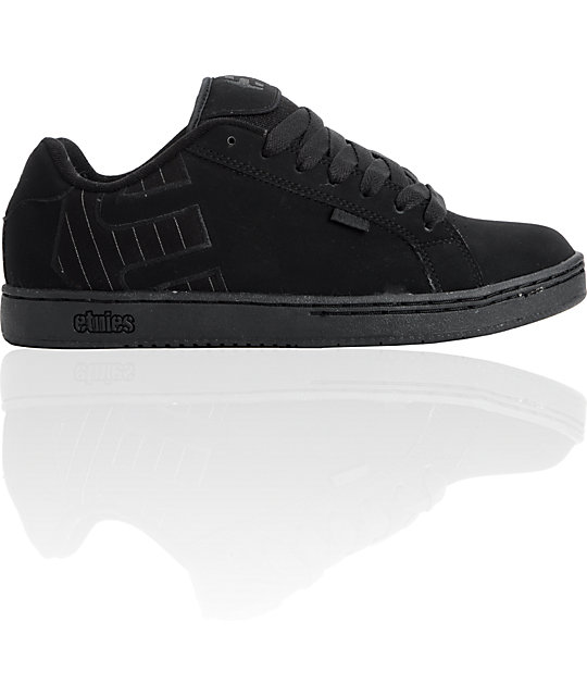 Etnies Fader Black & Pin-Stripe Shoes