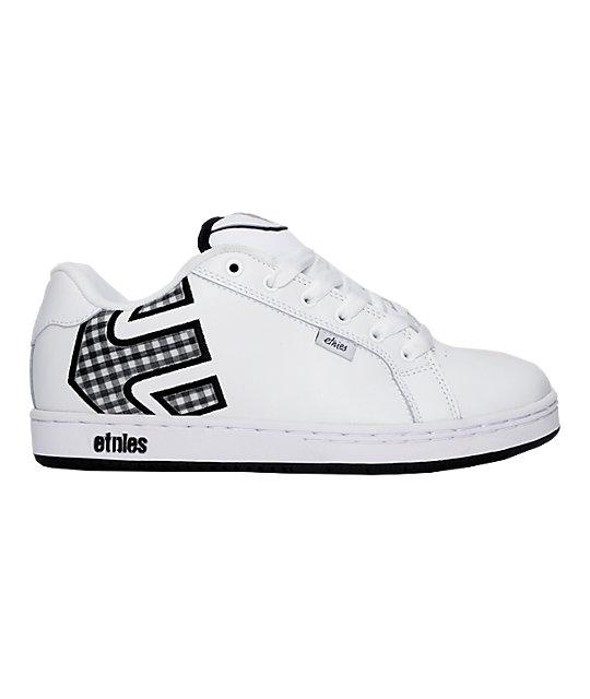 Etnies Fader White & Black Gingham Shoes