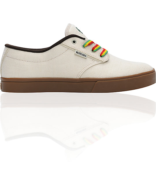Etnies Jameson 2 Eco Natural Rasta Skate Shoes