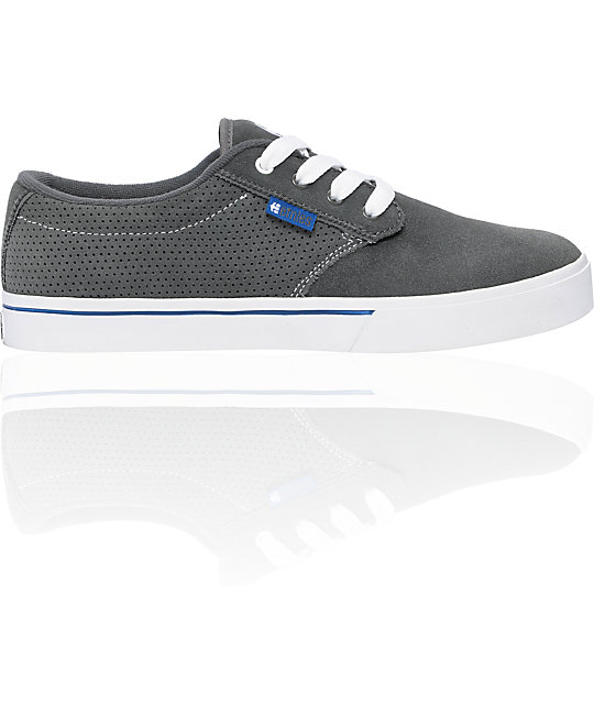 Etnies Jameson Grey, White & Blue Shoes