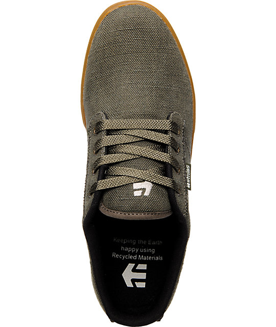 Etnies Jameson Olive Canvas & Gum Shoes