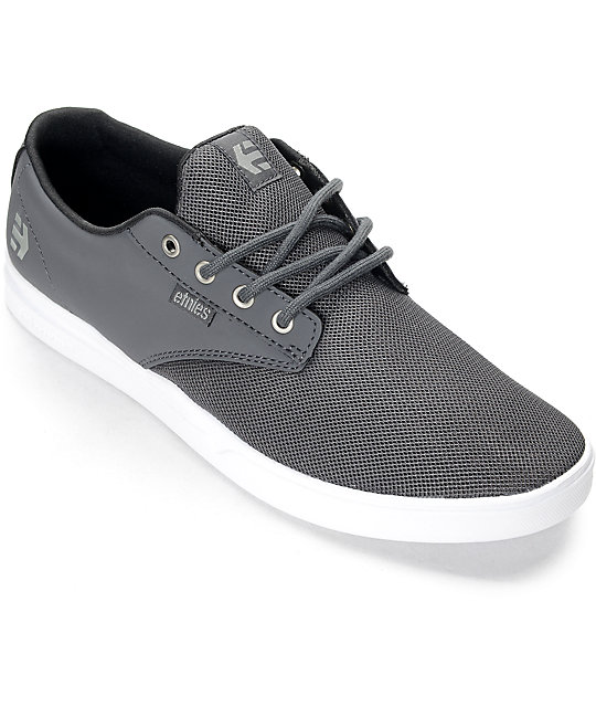 Etnies Jameson SC Grey & White Synthetic Shoes