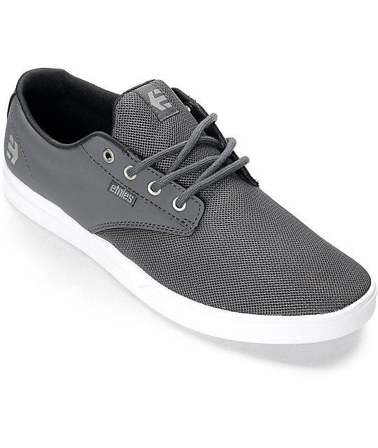 Etnies Jameson SC Grey & White Synthetic Shoes