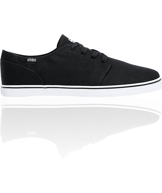 etnies lurker vulc black white canvas skate shoes