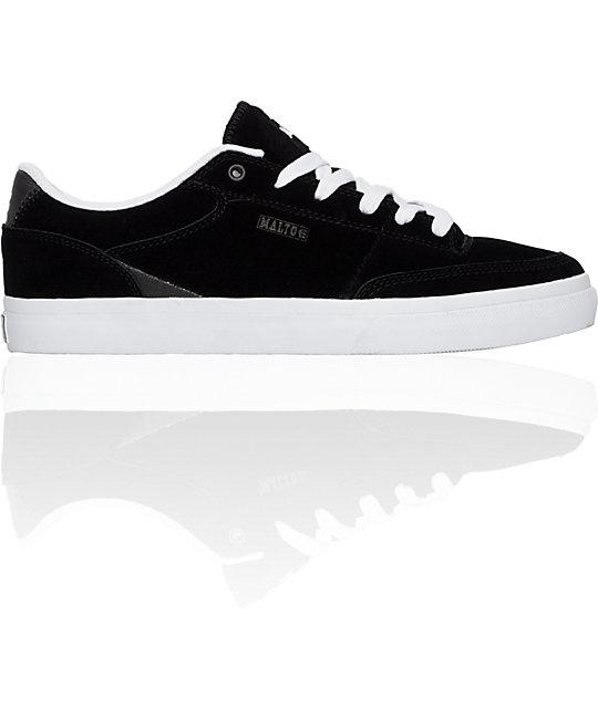 Etnies Malto Black & Suede Waxed Canvas Shoes