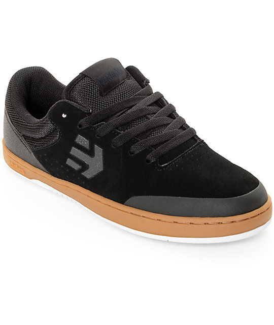Etnies Marana Black, Gum, & White Skate Shoes