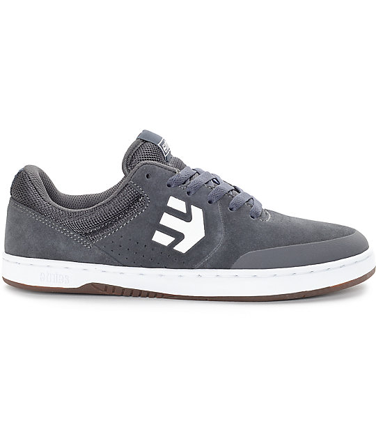 Etnies Marana Grey, White & Gum Skate Shoes