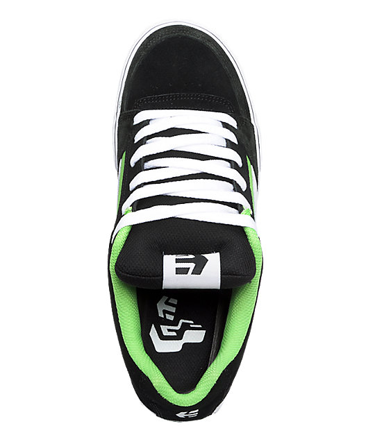 Etnies RVL Black, Green, & White Shoes