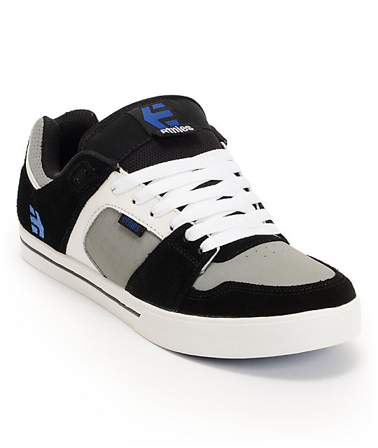 Etnies Rockfield Black, Grey & Blue Suede Skate Shoes