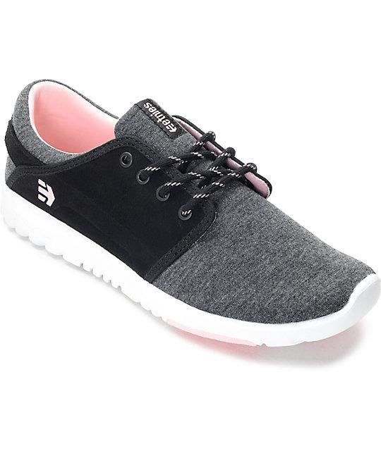 Etnies Scout Black, Grey & Pink Womens Shoes